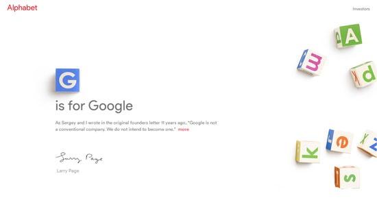 آلفابت آلفابت تغییر نام گوگل به آلفابت؛ لری پیج نامه نوشت 15 8 11 91714550