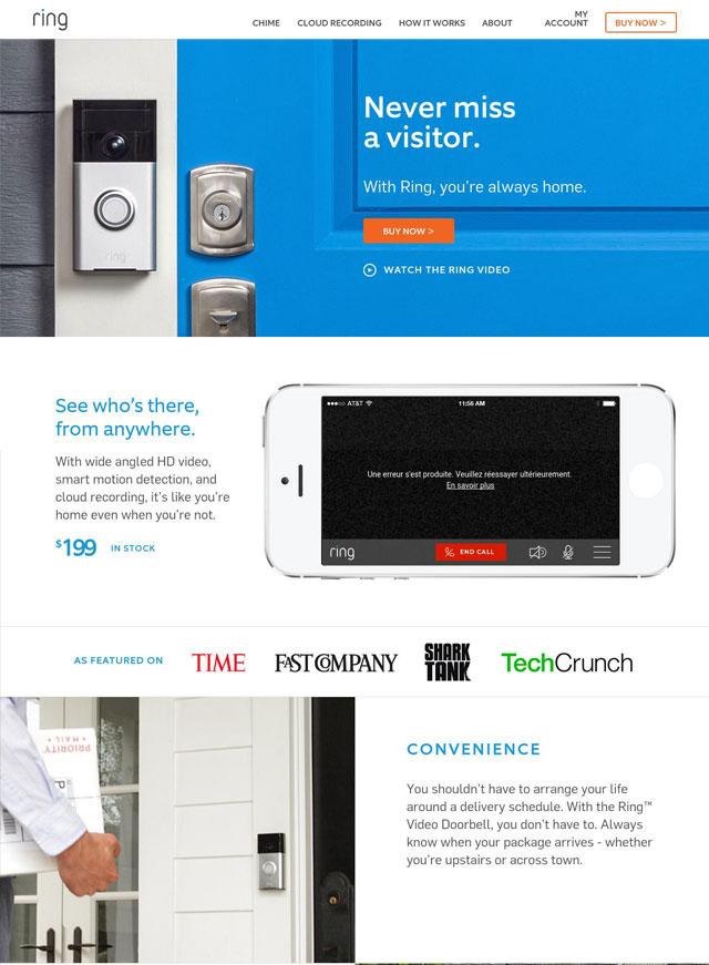 ring  10 گام برای طراحی سایت ها و صفحات معرفی محصول اثرگذار ring